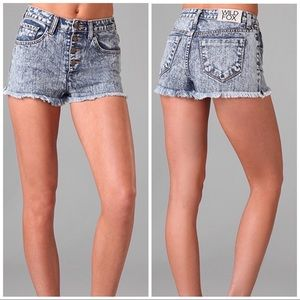 Wildfox Heather High Waisted Shorts, 25